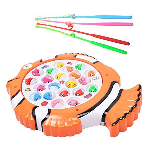 Beito Angeln Spiel Spielzeug Set Musical Magnetic Angeln Spielbrett für Kinder Kinder mit 21 Fisch und 4 Fischkiemen 1 PC