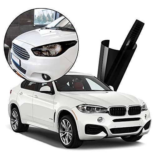Wilktop Folie Tönungsfolie Scheinwerfer Folie Tönungsfolie Aufkleber Schwarz Auto Folie für Autoscheinwerfer, Nebelscheinwerfer, Rücklicht (200×40cm)