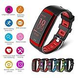 Smart-Armband, Cd09, Fitness-Tracker Ip67, wasserdicht, mit Schrittzähler, Sport-Armbanduhr, Bluetooth, mit Schlafüberwachung, Display-Vollansicht 2,44 cm, HD-Farbe, Ips-Bildschirm