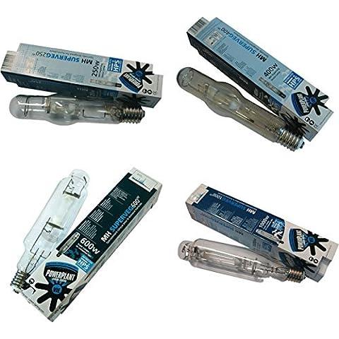 PowerPlant SuperVeg MH Metal Halide Lampara/Bombilla Reflector HPS 250 400 600 & 1000w - 250 Watt