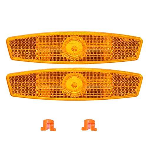 ichen-Reflektoren, 1 Paar, reflektierend, sicher für Mountainbike, Rennrad, Dekoration, gelb ()