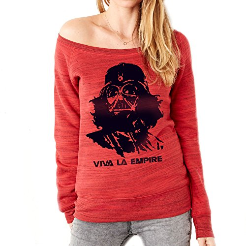 MUSH Felpa Fashion Star Wars Che Guevara - Viva LA Empire - Film by Dress Your Style Rosso marmorizzato