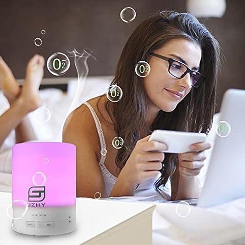 JZHY umidificatore ad ultrasuoni diffusore, 300ml Aroma diffusore di oli essenziali per le luci della stanza del bambino-7 colore LED / spegnimento automatico / 6-7 ore Diffusione continua