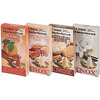 4er Set Knox Räucherkerzen - Bratapfel, Gebrannte Mandeln, Lebkuchen, Vanille