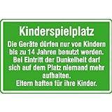 Spielplatzschild Kinderspielplatz Die Geräte dürfen nur.., Alu , 60x40 cm