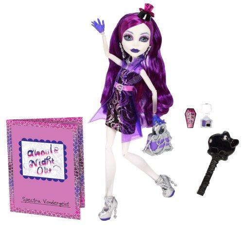 Mattel Monster High BBC12 -  Nachtschwärmer Spectra Vodergeist, (Monster Puppe High Vondergeist Spectra)