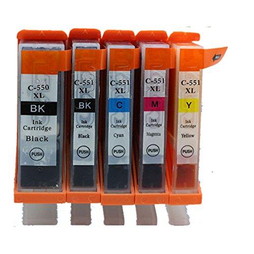 Preisvergleich Produktbild Generisch Kompatible Tintenpatronen Ersatz für Canon PGI 550XL 550 XL CLI 551XL 551 PGI-550 PGI-550XL CLI-551 CLI-551XL PGI-550XL CLI-551XL Tintenpatronen Hohe Kapazität kompatibel für Canon PIXMA MG5450 MG5550 MG6350 MG6450 MG7150 Ip7250 MX925 MX725 IX6850 IP8750 Tintenpatronen für Inkjet Drucker (1 Grossen Schwarz,1 Klein Schwarz,1 Cyan,1 Magenta,1 Gelb)