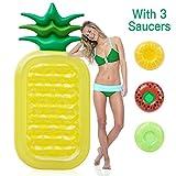 Twister.CK Aufblasbare Pool Float, Riesenschwimmbecken Ananas Float, Sommer Floatie Pool Spielzeug für Erwachsene Kinder, Größe 180 * 90 cm