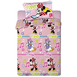 Disney Juego de Sábanas Térmica Polar 150GR Minnie y Daisy (para Cama de 90x190)