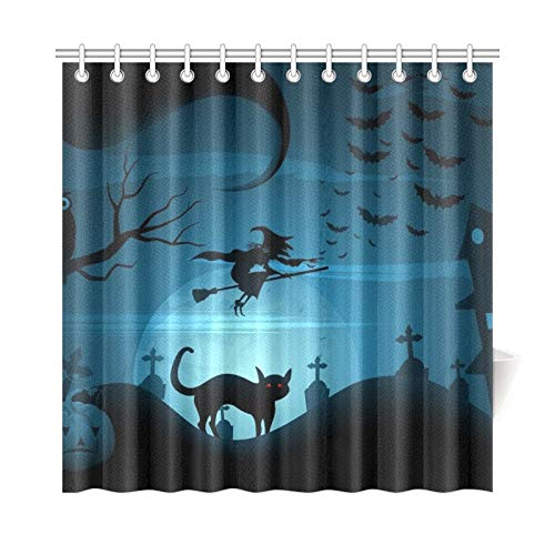 JOCHUAN Home Decor Bath Curtain Easy Edit Halloween Polyester Fabric Waterproof Shower Curtain for Bathroom, 72 X 72 Inch Shower Curtains Hooks Included (Gru Kostüm Mädchen)