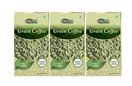 Gruner Natural Unroasted Arabica Green Coffee Beans Powder For