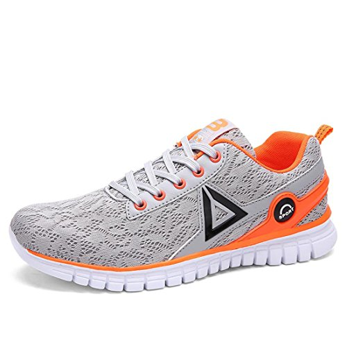Men's Zapatillas Mesh Lace Up Breathable Running Shoes men gray