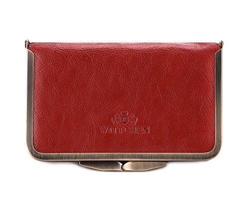 WITTCHEN Vanity | Couleur: Rouge | Cuir de grain | La taille (cm): 8,5 x Largeur (cm): 14 | Collection: Italy | 21-3-170-3