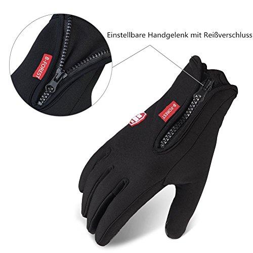 Limirror wasserdichter Touchscreen Handschuhe Winter Fahrradhandschuhe Laufhandschuhe Sports Handschuhe mit Touchscreen Funktion … (L) - 4