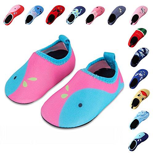 Laiwodun Kleinkind schuhe schwimmen Wasser Schuhe Mädchen Barefoot Aqua Schuhe für Beach Pool Surfen Yoga Unisex (4-34-35)