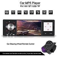 Qiilu 4 pulgadas Radio Reproductor Multimedia MP5 HD Pantalla Digital USB / SD / RMVB(1080P) AM/FM AUX Control Remoto del volante para Coche