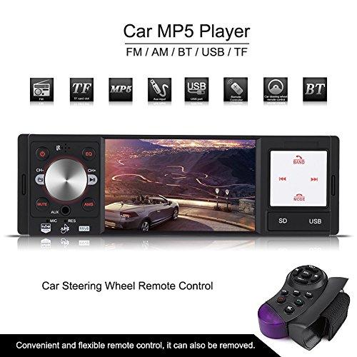 tal Schirm Auto Radio MP5 Spieler FM AM AUX Lenkrad Fernsteuerpult ()