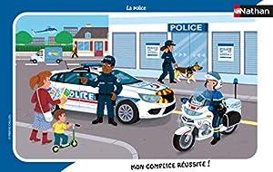 Nathan 4005556861392 - Puzzle (15 Piezas), diseño de la policía Asterix