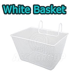 ASC White Kids Metal Wire Cycling Basket Junior Bike Bicycle Girls Childrens