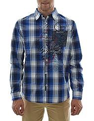 chemise desigual 67c12f1 marcel bleu
