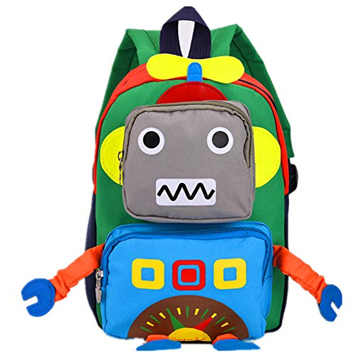 TeMan Enfants Sac à Dos Maternelle Cartable Robot Bleu
