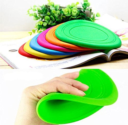 Foldable Dog Training Toy Frisbee Flying Disc Tooth Resistant Outdoor Large Dog Pet Fetch Toy (random)