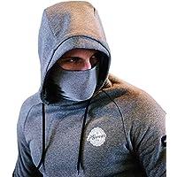PG Wear Ninja Hoodie Avanti mit Sturmhaube grau S-3XL