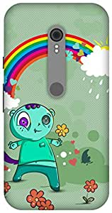The Racoon Grip printed designer hard back mobile phone case cover for Motorola Moto G Turbo. (Happy Mons)