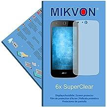 6x Mikvon SuperClear Película de protección de pantalla para Acer Liquid Z330 - transparente - Protectores de pantalla fabricado en Alemania