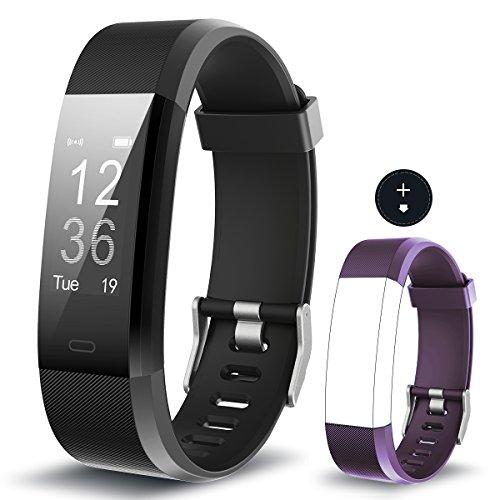 Fitness Armband Yuanguo YG3 Plus Aktivitätstracker Point Touch Smart Bracelet Pulsmesser Kalorienzähler Schrittzähler Schlafmonitor Wasserdicht IP67 Sport Armband SMS Anrufe Reminder für iOS und Android