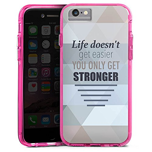 Apple iPhone X Bumper Hülle Bumper Case Glitzer Hülle Motivation Workout Sprüche Bumper Case transparent pink