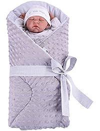 Sevira Kids - Gigoteuse d'emmaillotage Multi-Usage - Nid d'ange naissance - Minky - différent coloris