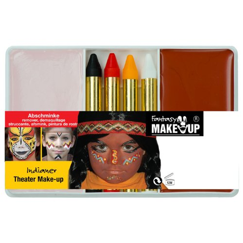 PARTY DISCOUNT Schmink-Set Theater Make-Up Indianer