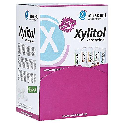MIRADENT Zahnpflegekaugummi Xylitol Schüttbox, 200 Stück Alle Sorten