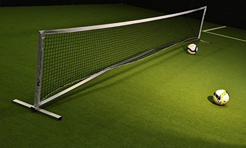 CARRINGTON Fußballtennis Set aus Aluminium 6 x 0,90m für Innen- und Aussen, Perfekt für das Fußballtraining