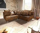 DELIFE Couch Clovis modular - Ecksofa, Sofa, Wohnlandschaft & Modulsofa (Braun, Ecksofa Rechts)