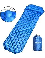 DINOKA esterillas Inflables, Esterilla Acampada Camping, Ultraligera Colchon Acampada Diseño de compresión único Inflado
