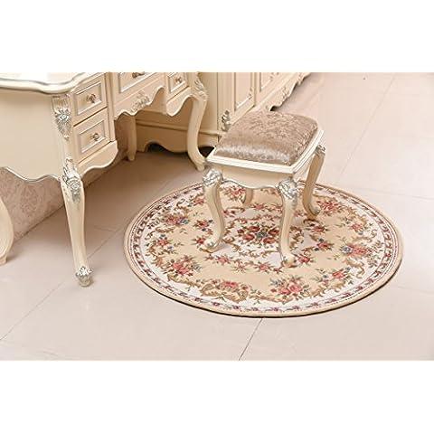 SEN Ronda de sillas de absorbente colgantes Europea-skid colgando cesta giratoria computadoras silla y tocador dormitorio redondo alfombra