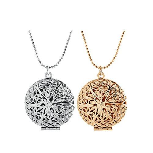 Öffnen mit Kette Damen Gold Hohl Runde Vogelnest Anhänger Für Frauen Halskette Mädchen Hochzeit Geschenk (Machen Sie Ihren Eigenen Rosenkranz)