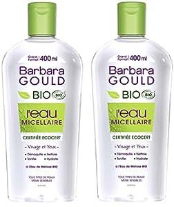 Barbara Gould l'Eau Micellaire Bio Certifiée Ecocert/Labellisée Cosmebio Grand Format 400 ml - Lot de 2