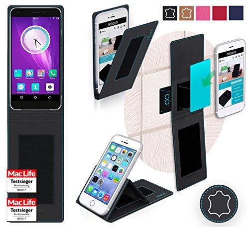 reboon Hülle für Elephone S1 Tasche Cover Case Bumper | Schwarz Leder | Testsieger