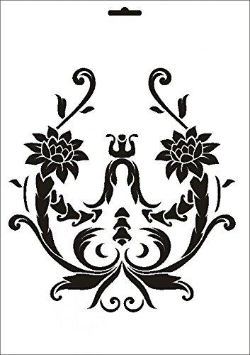 UMR-Design W-268 Bouquet Wand / Textilschablone Grösse A5