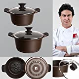 Bergner Sacher: Juego de útiles de cocina: Cacerola 20 y Cacerola 24 cms.