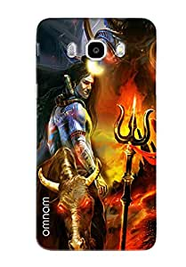 Omnam Lord Shiva Pose Printed Designer Back Cover Case For Samsung Galaxy J7 (2016)