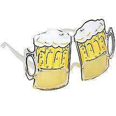Idea Regalo - TRIXES Occhiali novità, Bicchieri Boccali di Birra - Perfetti per Costumi Divertenti, Feste di Addio al Celibato, Carnevale e Festival - Bicchieri da Birra