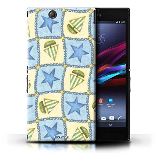 Kobalt® Imprimé Etui / Coque pour Sony Xperia Z Ultra / Brun/Bleu conception / Série Bateaux étoiles Bleu/Vert