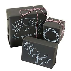 talking tables geschenkpapier kit mit kreidetafel oberfl che f r feiertage oder geburtstag. Black Bedroom Furniture Sets. Home Design Ideas