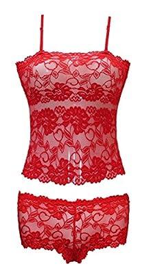new sexy lace set cami suite 2 piece set floral lace top boxer 3068