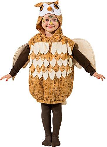 O5452-O5293-116-128 Kinder Eule Eulen Weste Kostüm Eulenkostüm Gr.116-128