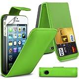Tirón verde Cubierta de cuero de la PU de Super Best Apple iPhone 5C loro para Apple iPhone 5C G5GADGET®